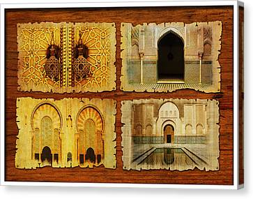 Morocco Heritage Poster 01 Canvas Print