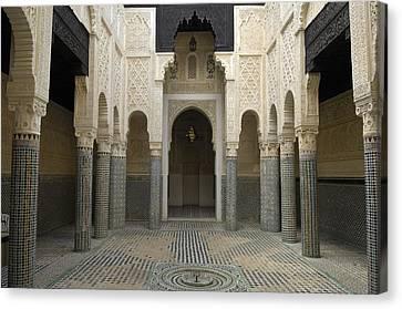 Morocco. Sal�. Madrasah C. 1341 Canvas Print by Everett