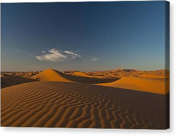 Simple Beauty In Colors Canvas Print - Morocco, Sand Dune At Dusk by Ian Cumming