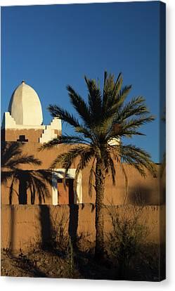 Morocco, Skoura White Trim Kasbah Canvas Print by Kymri Wilt