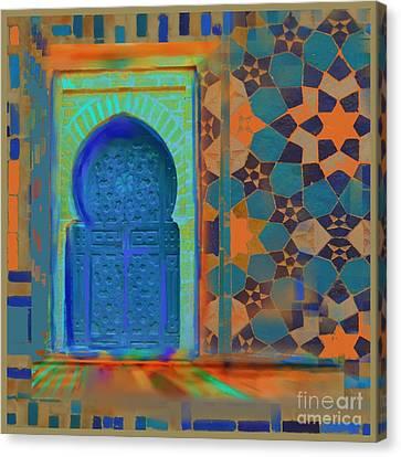 Moroccon Door Series Canvas Print
