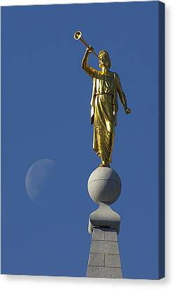 Moroni And The Moon Canvas Print by David Andersen