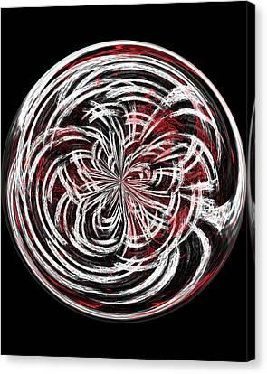 Morphed Art Globe 15 Canvas Print by Rhonda Barrett
