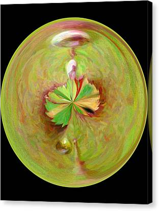 Morphed Art Globe 21 Canvas Print by Rhonda Barrett