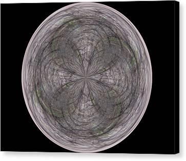 Morphed Art Globe 26 Canvas Print by Rhonda Barrett