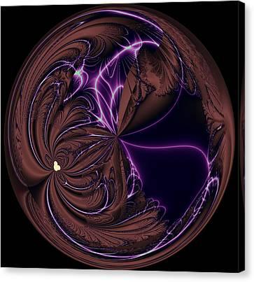 Morphed Art Globe 39 Canvas Print by Rhonda Barrett