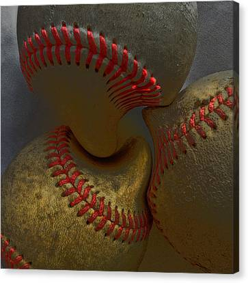 Morphing Baseballs Canvas Print by Bill Owen