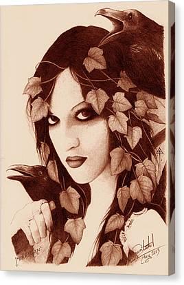 Morrigan Canvas Print by Yuri Leitch