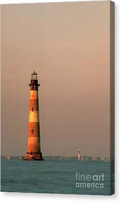 Morris Island  And Sulivan Island Lighthouses  Canvas Print by John Harmon