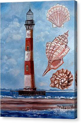 Morris Island Lighthouse Canvas Print by Julie Brugh Riffey