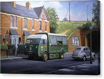 Morrison Dustcart Canvas Print by Mike  Jeffries