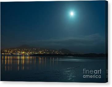 Morro Bay At Night Canvas Print