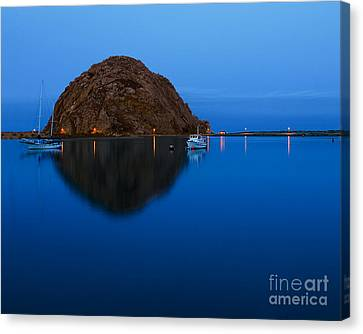 Canvas Print featuring the photograph Morro Bay Calm Morning by Terry Garvin