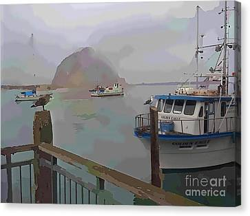 Morro Bay Morning Fog Canvas Print by Robert Wek