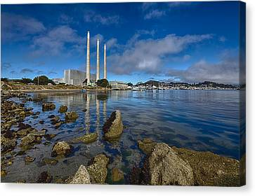 Morro Bay Power Plant 2 Canvas Print by Scott Campbell