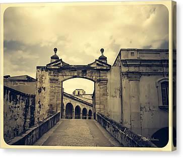 Castillo San Felipe Canvas Print - Morro Castle San Juan by Julie Palencia