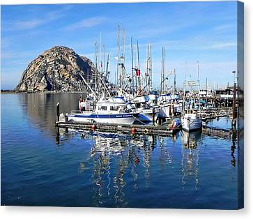 Canvas Print featuring the photograph Morro Rock by Kathy Churchman