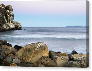 Canvas Print featuring the photograph Morro Rock Morning by Terry Garvin