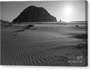 Morro Rock Silhouette Canvas Print