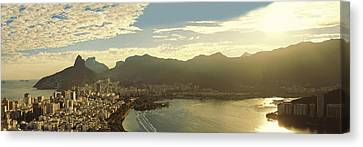 Dois Irmaos Canvas Print - Belveder Cantagalo Hill by Jose Luiz Mendes