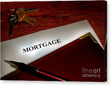 Mortgage Documents Canvas Print