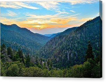 Mortons Overlook Smnp Canvas Print by Frozen in Time Fine Art Photography