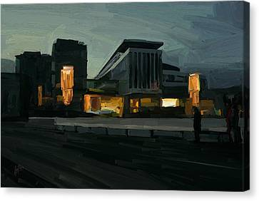 Mosa Forum Maastricht Canvas Print by Nop Briex
