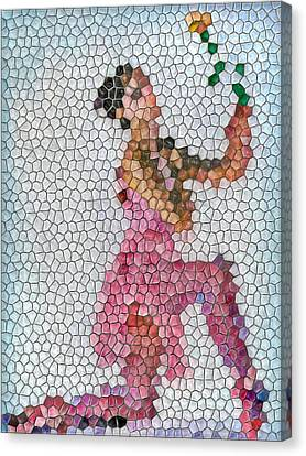 Mosaic Ballerina Canvas Print