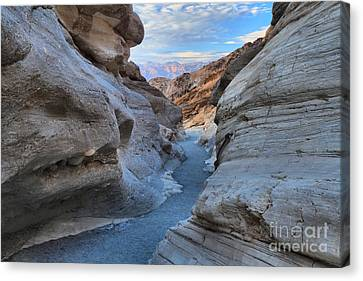 Mosaic Canyon Twilight Canvas Print by Adam Jewell