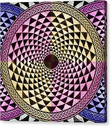 Mosaic Circle Symmetric  Canvas Print by Tony Rubino