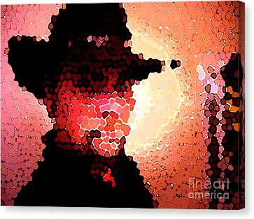 Mosaic Cowboy Canvas Print