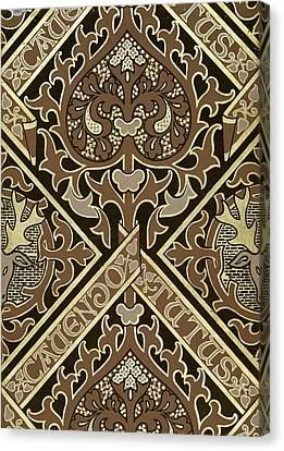 Mosaic Ecclesiastical Wallpaper Design Canvas Print by Augustus Welby Pugin