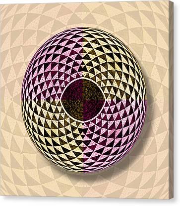 Curve Ball Canvas Print - Mosaic Eye Orb by Tony Rubino