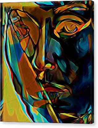 Oil Lamp Canvas Print - Mosaic by  Fli Art