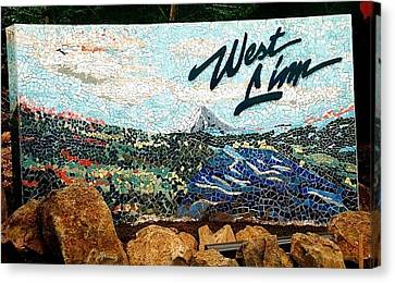 Mosaic For The City Of West Linn Oregon Canvas Print by Charles Lucas