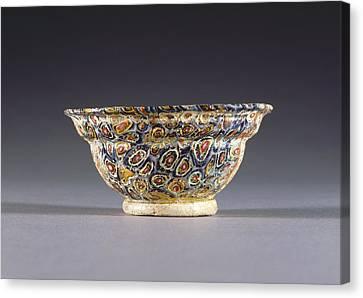Mosaic Glass Bowl Unknown 1st Century B.c. - 1st Century Canvas Print
