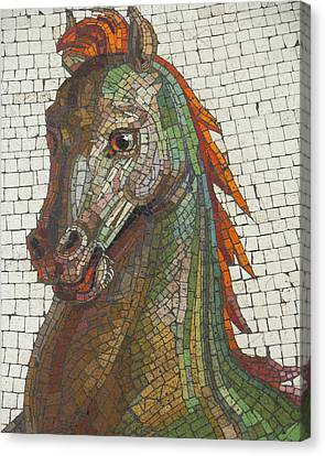 Canvas Print featuring the photograph Mosaic Horse by Marcia Socolik