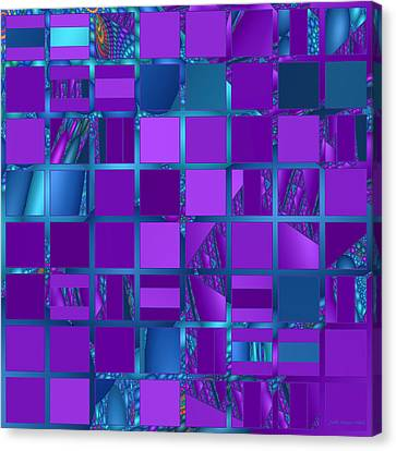 Mosaic In Purple And Teal Canvas Print by Judi Suni Hall