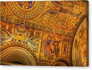 Mosaic - Kasier Wilhelm Memorial Church - Berlin Germany Canvas Print