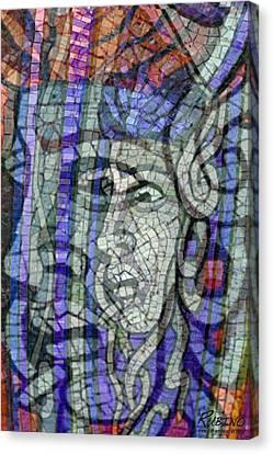 Mosaic Medusa Canvas Print by Tony Rubino