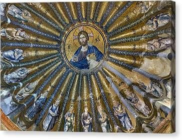 Mosaic Of Christ Pantocrator Canvas Print by Ayhan Altun