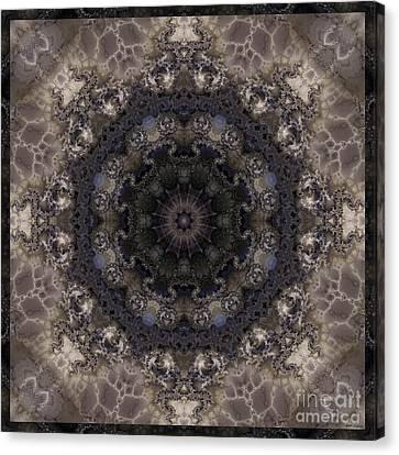 Mosaic Tile / Gray Tones Canvas Print