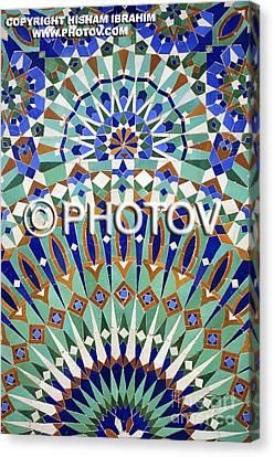 Mosaic Wall Morocco  Canvas Print by Hisham Ibrahim
