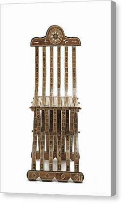 Mosaic Wooden Chair Canvas Print by Sami Sarkis