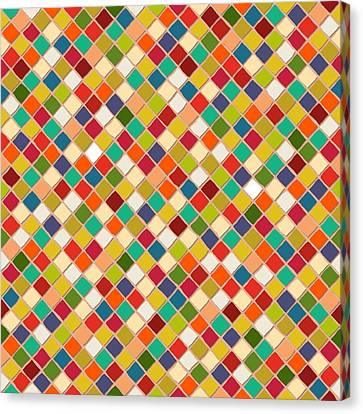 Pattern Canvas Print - Mosaico by Sharon Turner