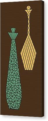 Mosaics 3 Canvas Print by Donna Mibus