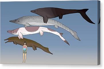 Mosasaur Prehistoric Marine Reptiles Canvas Print by Nemo Ramjet