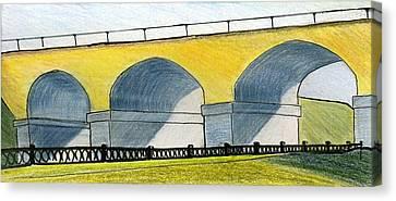 Moscow. Andronikov Viaduct Canvas Print by Lelia Sorokina