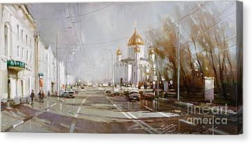 Moscow Skyline Canvas Print - Moscow. Cathedral Of Christ The Savior by Ramil Gappasov