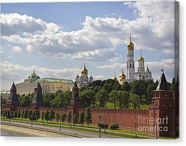 Orthodox Canvas Print - Moscow Kremlin by Elena Nosyreva
